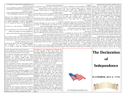 Declaration Of Independence Foldable Booklet