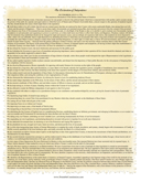Single-Page Declaration Of Independence