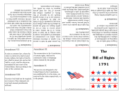 Bill Of Rights Foldable Booklet Founding Document
